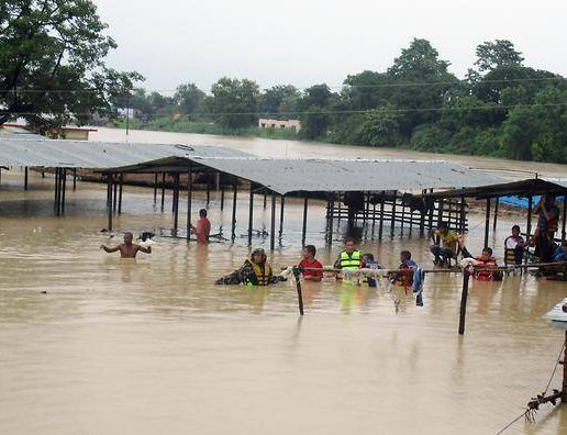 Flood in Terai District of Nepal